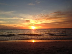 Sunset at Clearwater Beach with Sharon Denton Yoga